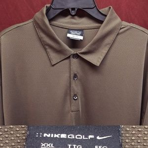 Nike Golf Brown Polo XXL Shirt